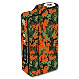 Decal Sticker Skin WRAP Orange & Green Camo Custom Art for Sigelei 150W Temp Control
