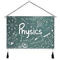 MISCERY タペストリー、Doodle Physics And Math School Print、壁掛けタペストリー壁画 壁飾り 家 リビングルーム ベッドルーム 部屋 おしゃれ飾り モダンなアート