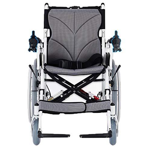 BYCDD Plegable Motor Silla de Ruedas, Heavy Seguridad Deber Eléctrica Power Chair para el...