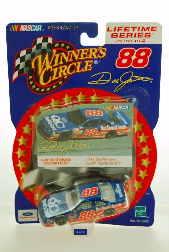 2000 - Hasbro - Winner's Circle - NASCAR - Lifetime Series - 1 of 4 - Dale Jarrett #88 - 1996 Ford Thunderbird - Quality Care - 1:64 Scale Die Cast - Limited Edition - Collectible by Hasbro