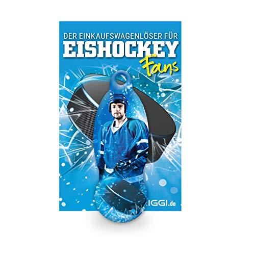 TRIGGI® der Einkaufswagenlöser – Einkaufswagenchip abziehbar, Motiv Eishockey Fan