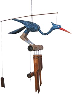 Cohasset Gifts 147B Cohasset Happy Bobbing Head Bird Bamboo Wind Chime