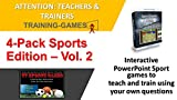 PowerPoint Sports Edition 4 Pack for Teaching & Training Classes - Sport theme training games for training program review - Add your own questions - Multi User License (Up to 20 users)