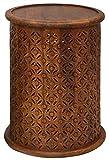 Jofran Global Archive Drum Table - Mango, 17' W X 17' D X 23' H, Finish, (Set of 1)