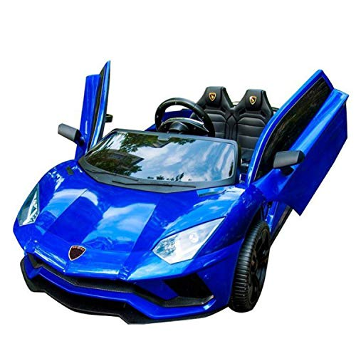 Best Choice Products Kids Ride On Car Truck with Parent Control, 3 Speeds, LED Headlights, MP3 Player, Horn - Blue