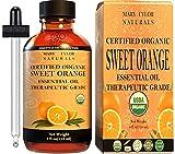 Organic Orange Essential Oil (4 oz), USDA Certified, 100% Pure Essential Oil, Therapeutic Grade, Citrus Sinensis by Mary Tylor Naturals