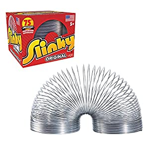 The Original Slinky Walking Spring Toy, Metal Slinky, Fidget Toys, Party Favors and Gifts, Toys for 5 Year Old Girls and Boys, by Just Play