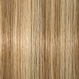 Toupet Capelli Donna Veri 10 * 12cm #18P613 Biondo Cenere & Biondo Sbiancante Extension Capelli Veri Clip Remy Human Hair Topper Capelli Naturali, Lunga 25cm Pesa 35g
