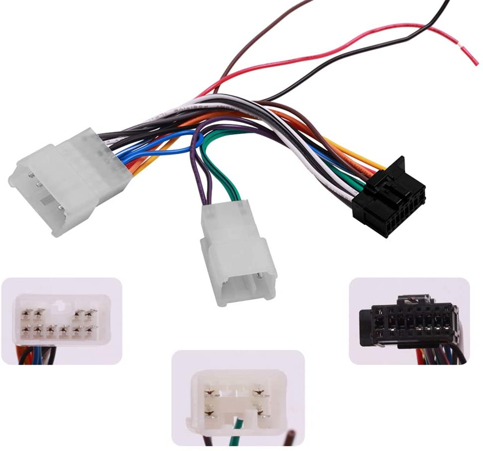 Radio Wiring Harness Pioneer Headunits Compatible with Toyota| Fits for All Non-JBL Toyota and Scion Models 1987-17(Does not Fits for JBL Cars) | Fits for 2016-19 Models (All BRZs)