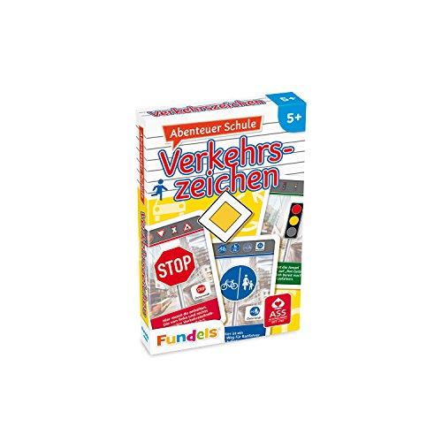 ASS Altenburger 22572844 - Abenteuer Schule - Verkehrszeichen, Kartenspiel, Lernspiel