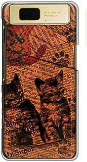 CaseMarket 【ポリカ型】 docomo AQUOS PHONE slider SH-02D ポリカーボネート素材 ハードケース [ Cat ウォールペーパー オレンジ ]