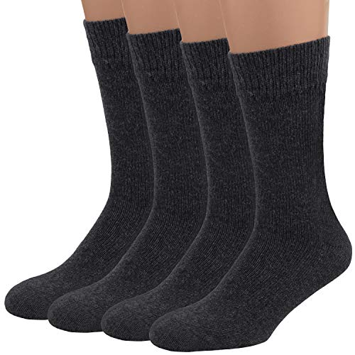 Air Wool Socks, 2 packs Merino Wool Organic Cotton Rich Mens Black Dress Socks ( Grey M )