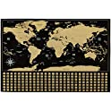 "AmazonBasics 16"" x 24"" Scratch Off Poster of the World Map"