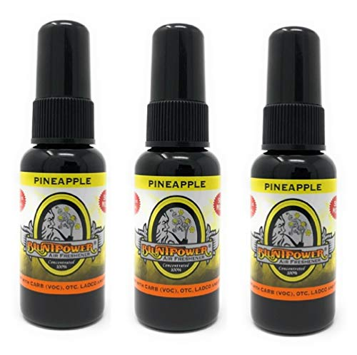BluntPower 1 Ounce Bottle Oil Based Concentrated Air Freshener and Oil for Burner, Pineapple (Pack of 3)