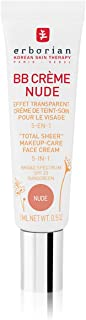 Erborian BB Creme Nude Total Sheer Make-Up-Care Face Cream 5-In-1 SPF20 0.5oz, 15ml