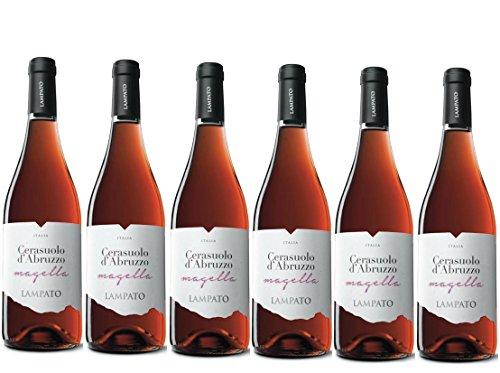 """Vino Rosato Cerasuolo d'Abruzzo D.O.C. 2018 Cantine""""LAMPATO"""" Colline Pescaresi - Abruzzo - Italy - Box da 6 Bottiglie da 0,75 lt."""