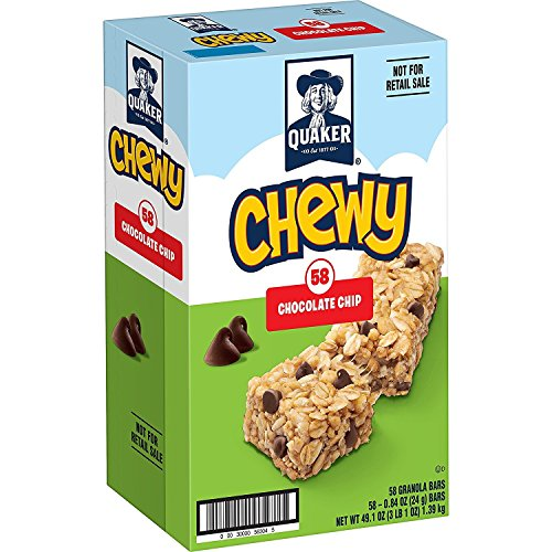 Quaker Chewy Granola Bars, Chocolate Chip, 58 Bars