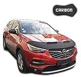Protezione Cofano Grandland X CARBON Copertura Cofano Car Bra Auto NERO Front Maschera Bonnet Tuning
