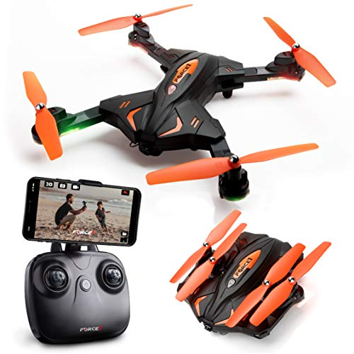Foldable Drones with Camera for Adults or Kids – F111WF WiFi FPV...