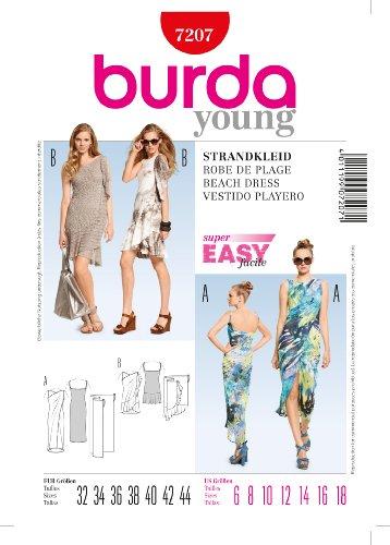 Burda Schnittmuster 7207 Strandkleid,Vestido de Playero,Beach Dress Gr. 32-44