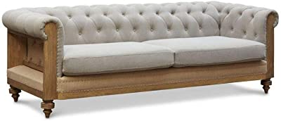 0770e7471f4c pib - Sofas - Large Grey Montaigu Chesterfield Sofa, A magnificent  Chesterfield sofa in jute