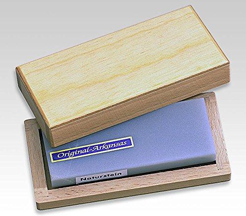 LINDER Arkansas Abziehstein Hart 100x40mm In Holzschatulle Schärfsysteme, Mehrfarbig, 100 x 40 mm