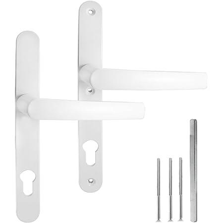 HOPPE Schmalschild-Garnitur T/ôky/ô Aluminium verkehrswei/ß beschichtet 1710RH//3346-2133843