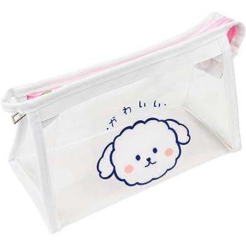 ペンケース 大容量 透明ペンホルダー 筆箱 おしゃれ ツールペンケース シンプル 軽量 PVC素材 事務用品・学用品に適した 旅行用化粧バッグ (透明)