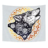 N / A Tapestry Mandala Bohemia Wall Hanging Animal Moon Wolf Yoga Mats Beach Towel Decor Livingroom...