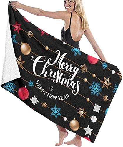 Yaxinduobao Background with Christmas Logo Beach Towel Chair Thick Soft...