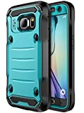 E LV Case for Galaxy S7 Case Hybrid Armor Protection Defender Case Cover with Built-in Screen Protector for Samsung Galaxy S7 - [Turquoise/Black]