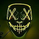 gaiya Máscara Luminosa De Halloween Amarillo