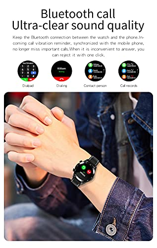 New E12 Smart Watch Men's Bluetooth Call Smart Watch Full Touch Impermeable Smart Clock Fitness Tracker Sports Watch para Android iOS,E