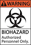 ZING 1924 Eco Safety Sign, Warning Biohazard Authorized Personnel Only, Recycled Plastic, 10' H x 7' W, Black,Orange, White