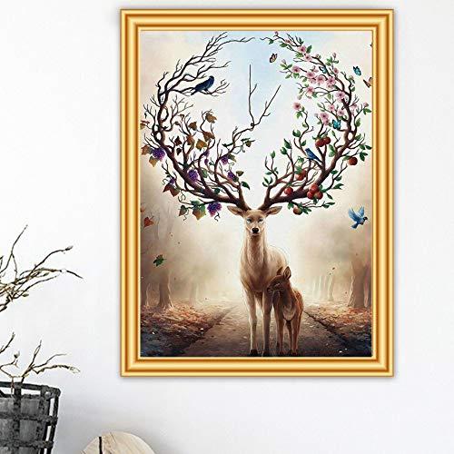 ATggqr Rompecabezas de 1000 Piezas, 50x75 cm, Ciervo de fantasía, casa, Regalo, elección, Rompecabezas, Juguetes educativos, Juegos