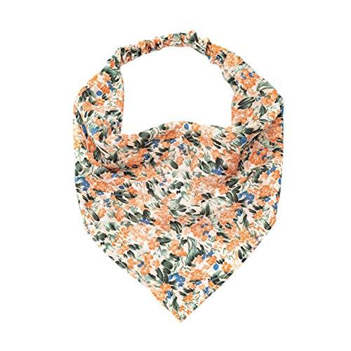 MUGBGGYUE Bufanda elástica para el pelo, bandanas, estilo festivo, triángulo, bufanda para mujeres y niñas, bohemio, pañuelo para el pelo, diadema vintage