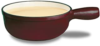 Swissmar Lugano 2-1/2-Quart Cheese Fondue Pot, Cherry Red