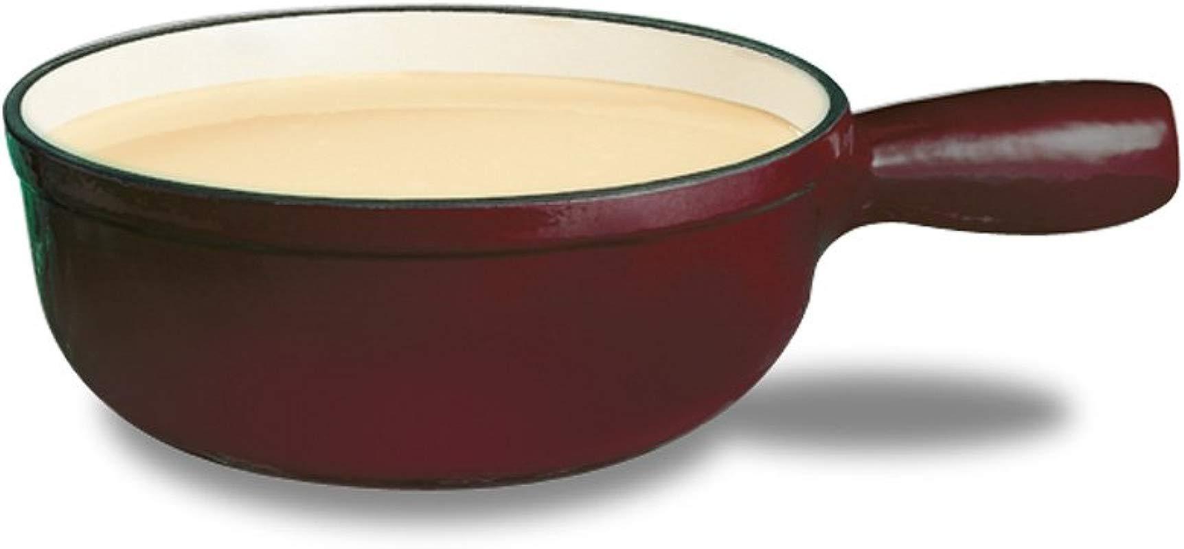 Swissmar F65004 Lugano 1 1 2 Quart Cheese Fondue Pot Cherry Red