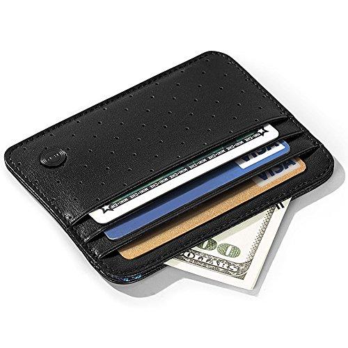 BVP - Funda para tarjetas de crédito (piel), diseño de Borussia Dortmund, Negro (Negro) - M203