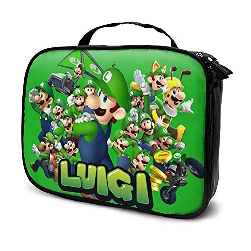 Mario - Bolsa de cosméticos para mujer, bolsa de almacenamiento con compartimentos múltiples, bolsa de almacenamiento de artículos de tocador portátil, cepillo de cosméticos