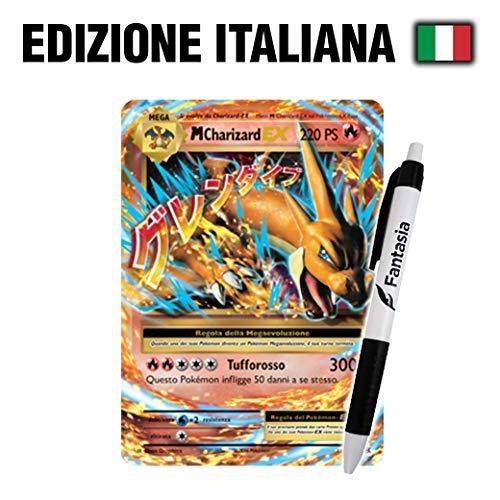 Fantàsia M Charizard EX - Carta Pokemon ITA - Evoluzioni - 13/108 + Penna