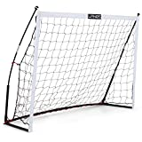 Lanos Portable Soccer Goals for Backyard, Lightweight Soccer Net with Pre-Connected Posts, Carry Bag - Premium Soccer Goal and Soccer Training Equipment for Kids and Adults