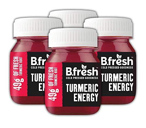 Turmeric Shots - Energy with Vitamin B12-49g Raw Turmeric - Cold Pressed Drink (10 x 70ml)