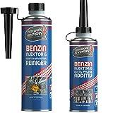 SYPRIN Additivo e Pulitore Completo del Sistema di Alimentazione Iniettori Benzina I Trattamento rigenerante Motori I Detergente per Pacchetto - 500ml + 250ml