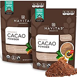 Navitas Naturals Organic Cacao Powder, 16-oz. Pouches (Packof 2) : Powdered Soft Drink Mixes