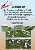 STABIELO - WURMI - 2 X SUPERWURM ALU + 2 x BODENANKER- ALU - SCHRAUBHERINGE-ZELTHERINGE - Wurmi-produkte  für CAMPING-CARAVAN-OUTDOOR-FREIZEiT - MADE in GERMANY - LANGZEIT-TEST bestanden -...