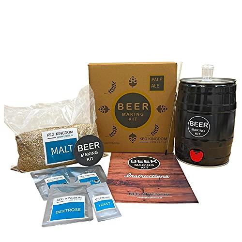 Kit de fabricación de cerveza Pale Ale | Kit de iniciación de elaboración de cerveza | Recargas reutilizables disponibles.