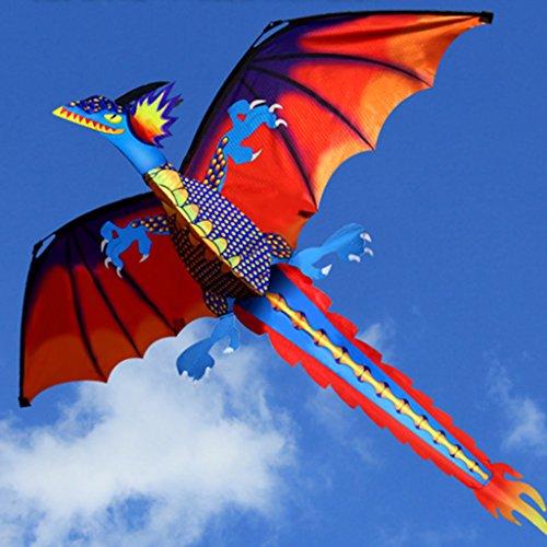 Angelliu formado Cometa El dragón, 140x120cm, a 100 Metros de línea para niños y Adultos