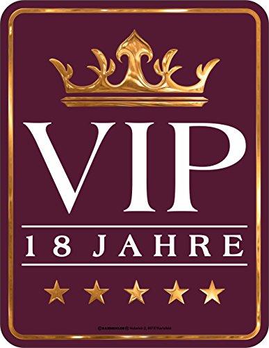 RAHMENLOS Original Blechschild zum 18. Geburtstag: 18 Jahre VIP