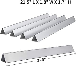 SHINESTAR 7534 Flavorizer Bars for Weber Spirit 200, Spirit 500 and Genesis Silver A Grill, 21.5 Inch Stainless Steel Heat Plate for Weber Spirit and Genesis Grill (21.5 x 1.7 x 1.7)
